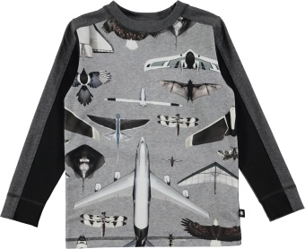 Raso T-Shirt LS Planes and Birds
