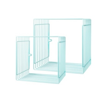 Wire shelf, square, 2 pcs, blue