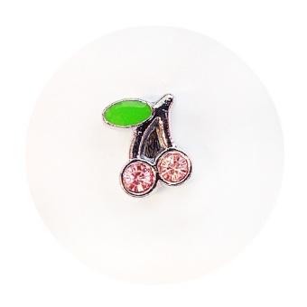 Namnarmband - Berlock - Körsbär rosa