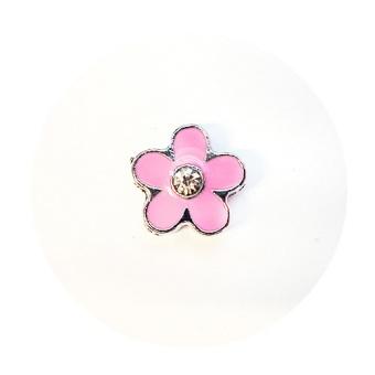 Namnarmband Berlock - Blomma rosa