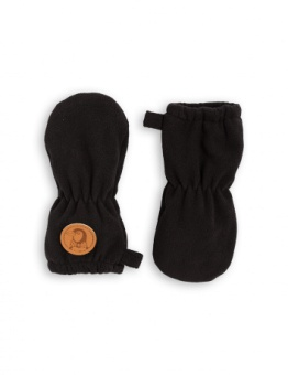 FLEECE BABY MITTENS / black