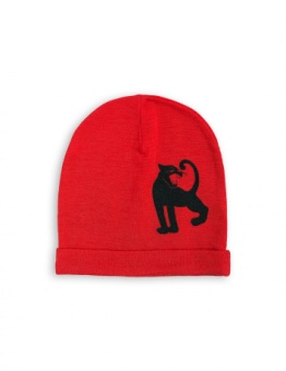 PANTHER SP WOOL BEANIE red