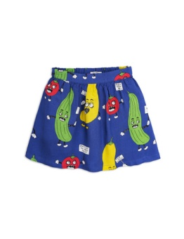 Veggie woven skirt Blue
