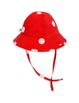 Dot sun hat Red