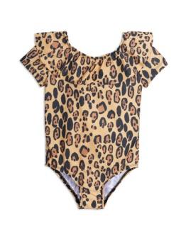 Leopard ss swimsuit Beige