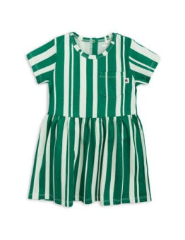 Odd stripe ss dress Green