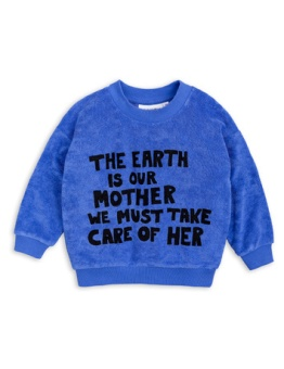 Mother earth terry sweatshirt - Drop 1/ blue