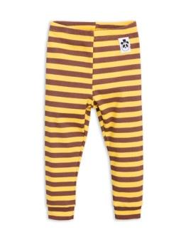 Stripe rib leggings Yellow