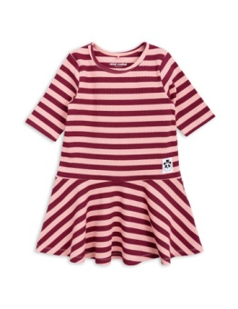 Stripe rib dance dress Pink