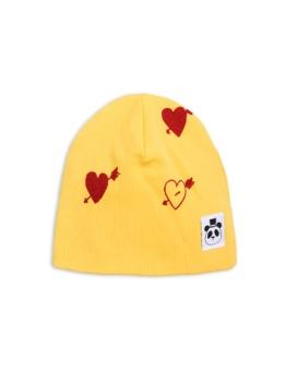 Heart rib beanie Yellow