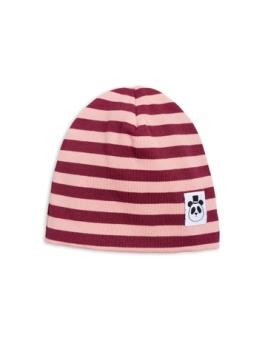 Stripe rib beanie Pink