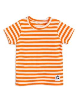 Stripe rib ss tee orange