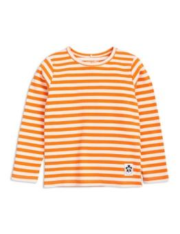 Stripe rib ls tee orange