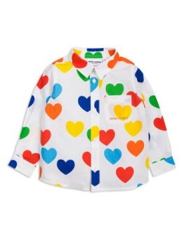 Rainbow love woven ls shirt white