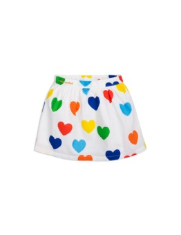 Rainbow love woven skirt white