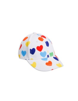 Rainbow love cap white