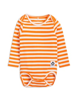 Stripe rib ls body orange