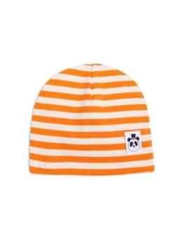 Stripe rib beanie orange