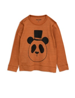 Panda sp wool ls tee Brown