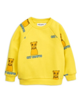 Cat Campus Sweatshirt Yellow