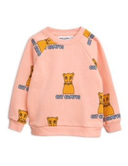 Cat Campus Sweatshirt Pink