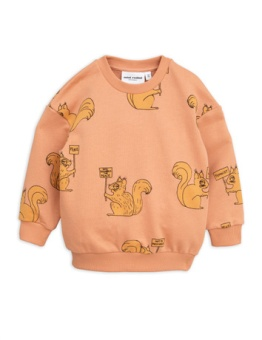 Squirrel Sweatshirt Beige