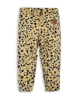 Fleece spot trousers Beige