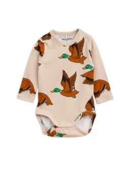 Ducks aop ls body Beige