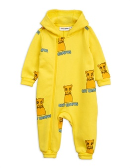 Cat Campus Onesie Yellow