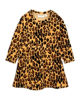Leopard velour dress Beige