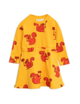 Squirrel Dress Yellow