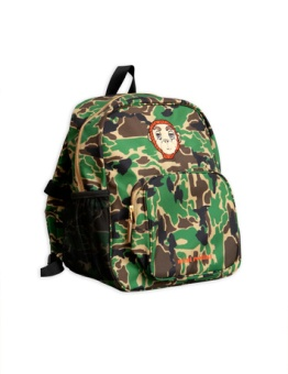 Camo school bag Green