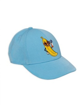 Banana embroidery cap light blue