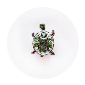 Namnarmband Berlock - Sköldpadda strass