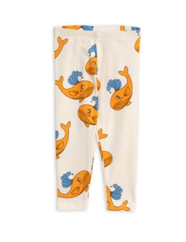 Whale aop leggings/ Orange