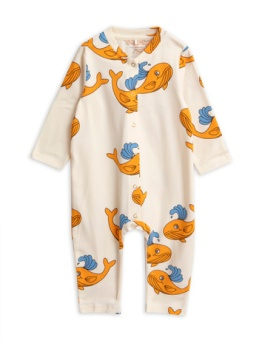 Whale aop jumpsuit/ Orange