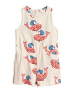 Whale aop summersuit / Pink