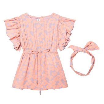 Cilla Dress Orange Bloom