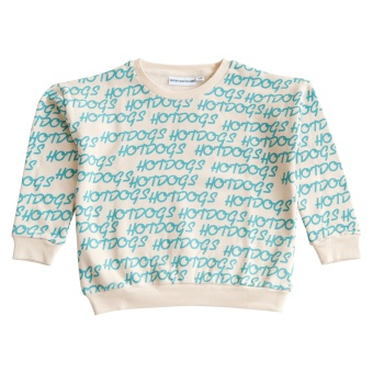 The Classic Sweater Hotdogs Repeat Turquoise