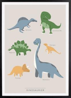 Dinosaurier 50 x 70 cm (utan ram)