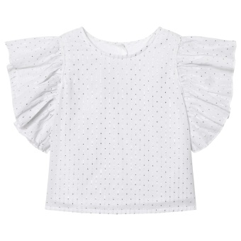 Lua Blouse White Silver Dots