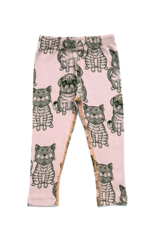 Leggings Cats + Pug Rose