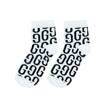 Ankle strumpor GG print White