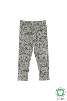 Baby Leggings Owl, Grey
