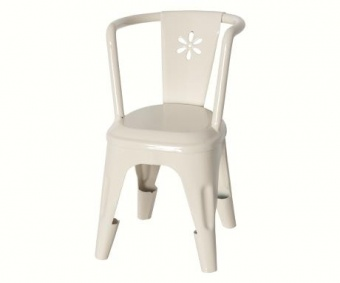 Maileg - Metall stol offwhite