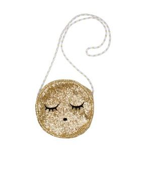 sleeping cutie bag gold glitter