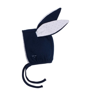 BUNNY HAT navy jaquard