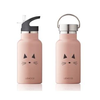 Vattenflaska Katt Rosa