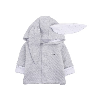 BUNNY CARDIGAN grey / white saturday