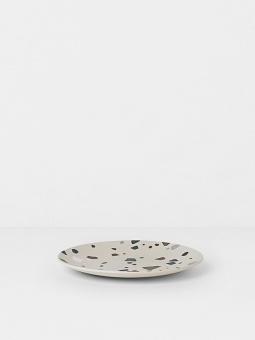 Bamboo Plate - Terrazzo - Grey